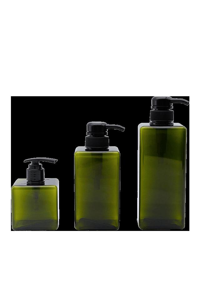 Bouteille carrée en plastique de 250ML 450ML 650ML pour la pompe de savon de lotion